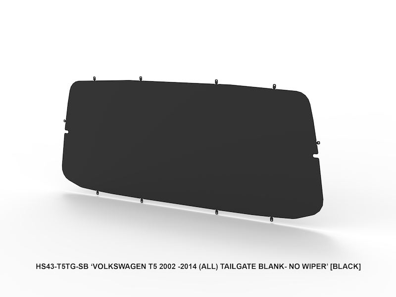 VW TRANSPORTER TAILGATE SOLID BLACK