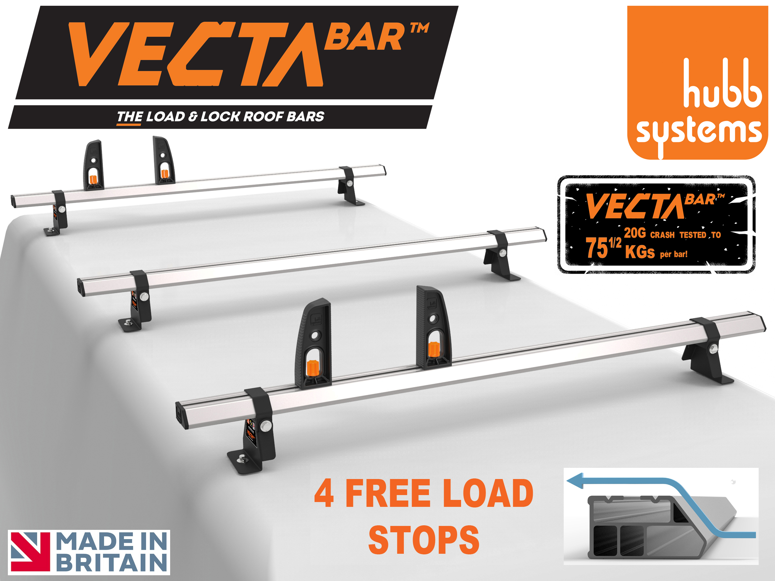 VECTA BAR - PROBABLY UK'S STRONGEST ROOF BAR - HEAVY DUTY